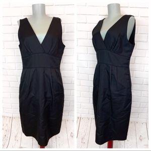 J. Crew • Black Statin Dress with Pockets